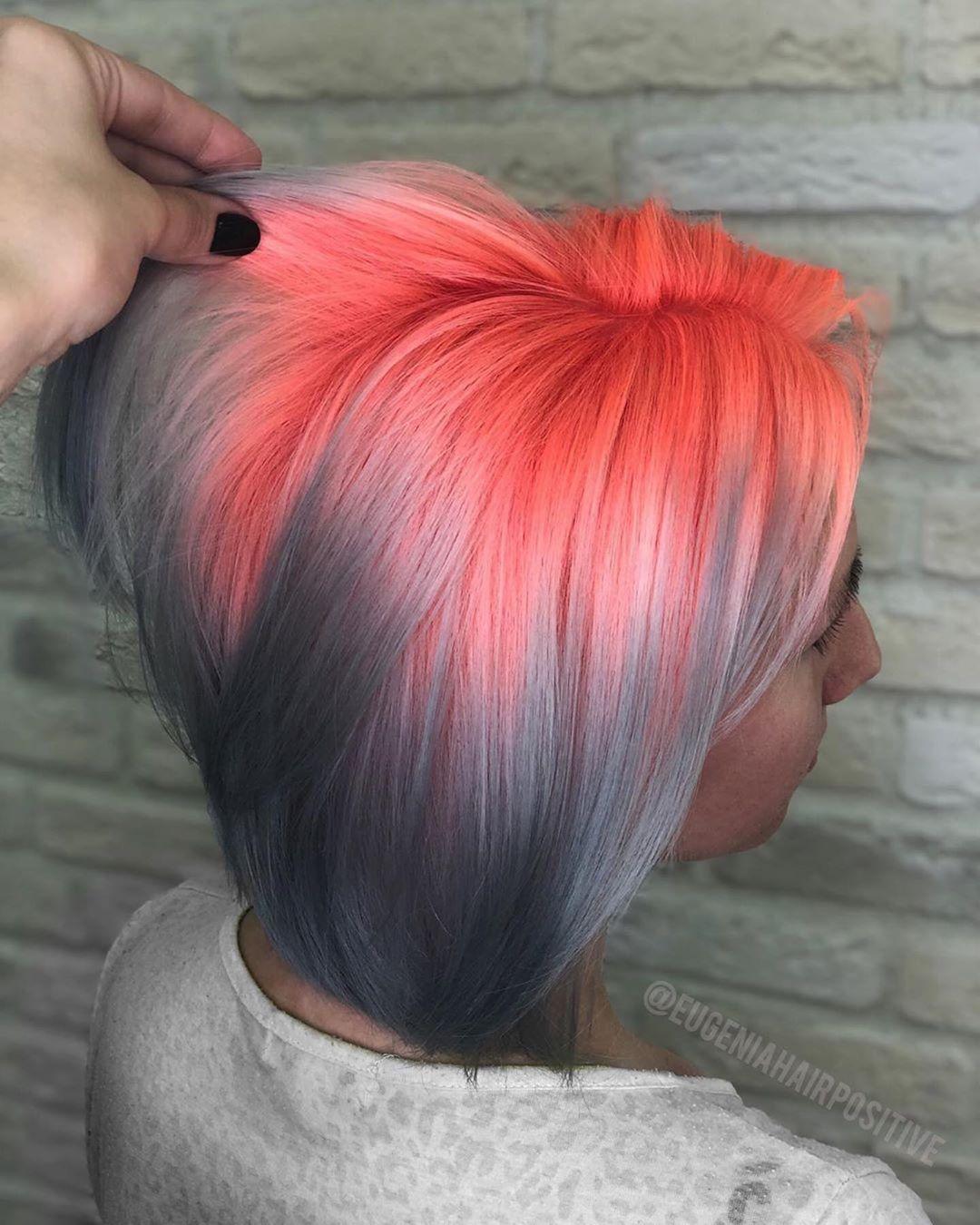 Растяжка цвета на волосах фото 23