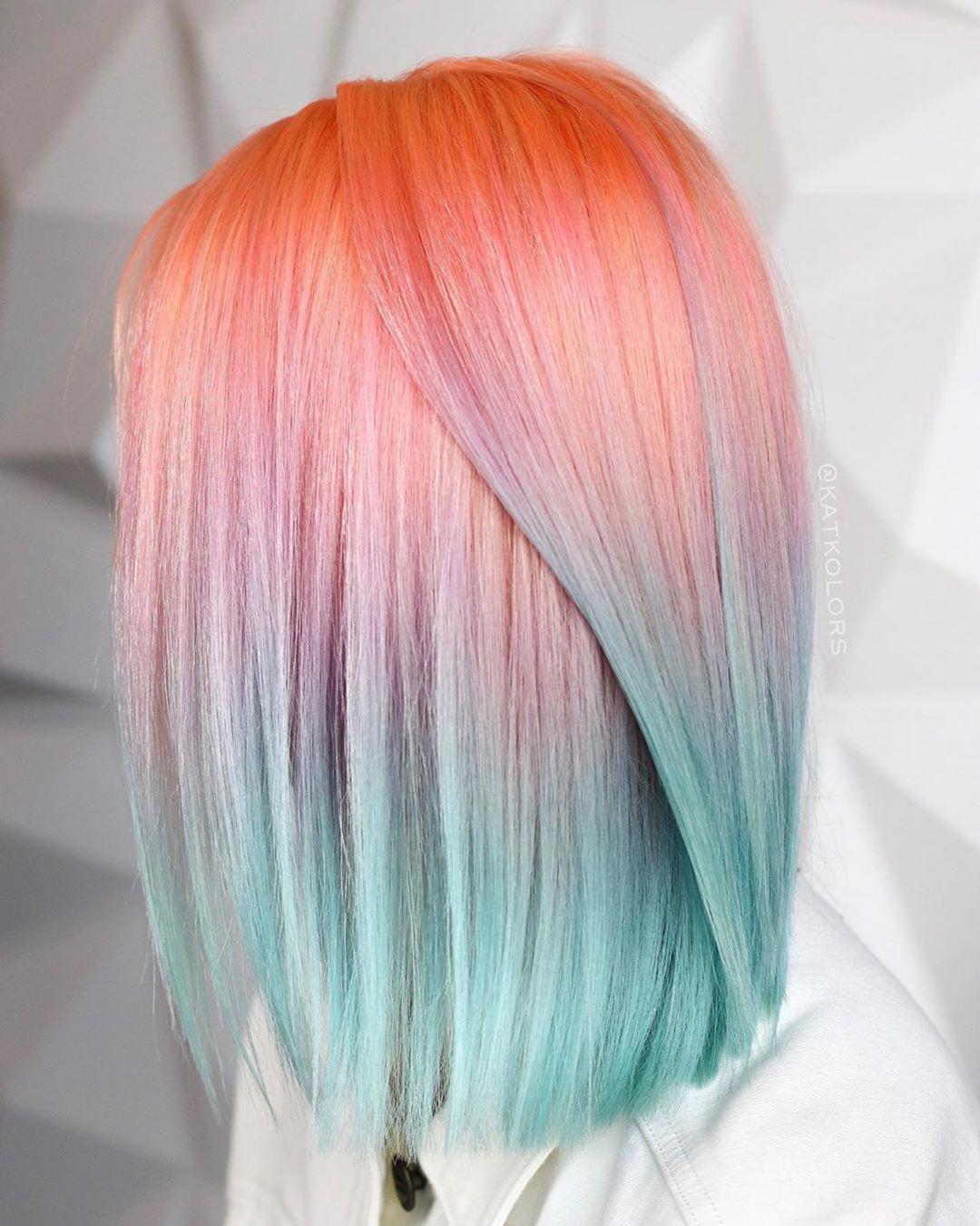 Растяжка цвета на волосах фото 24