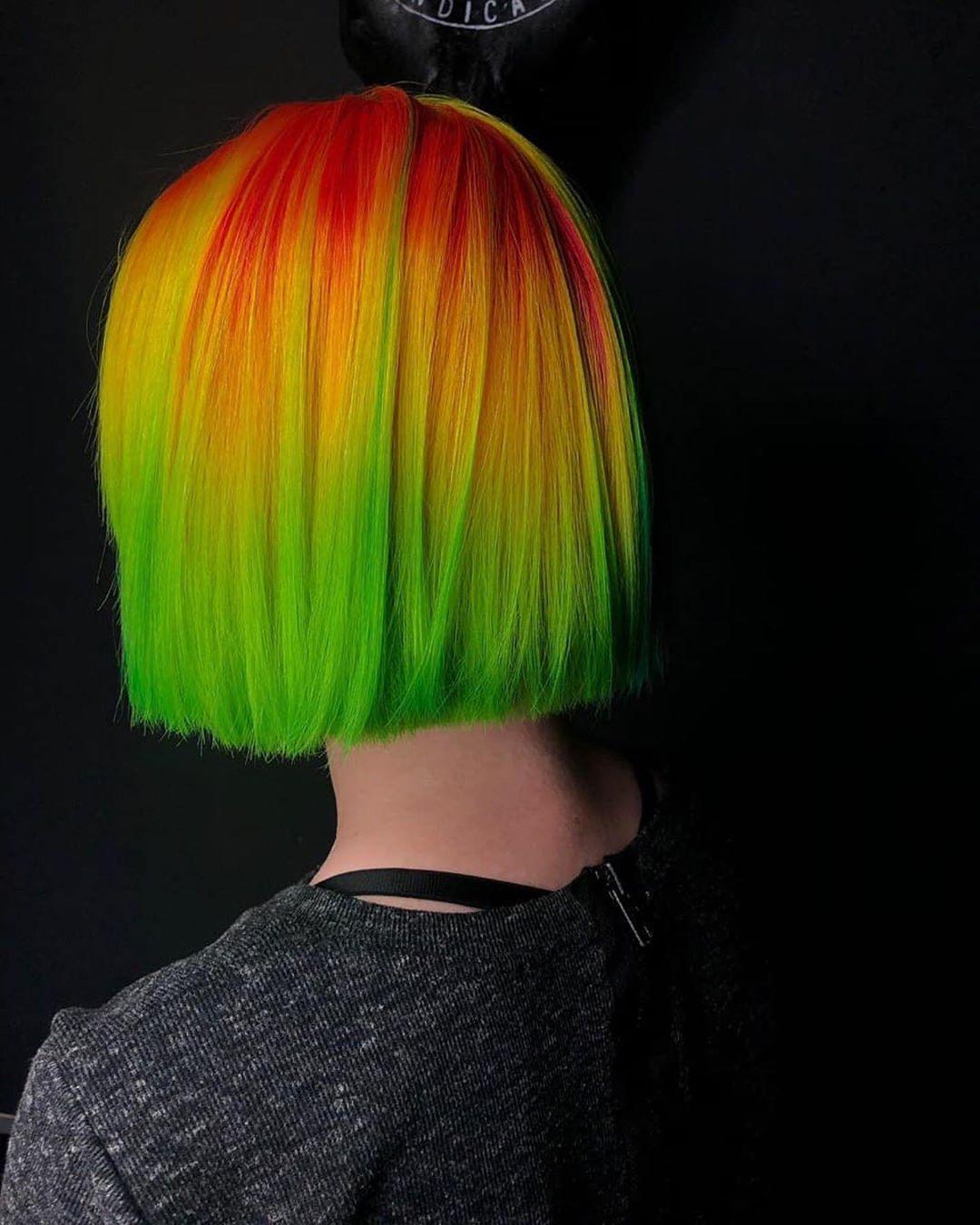 Растяжка цвета на волосах фото 25