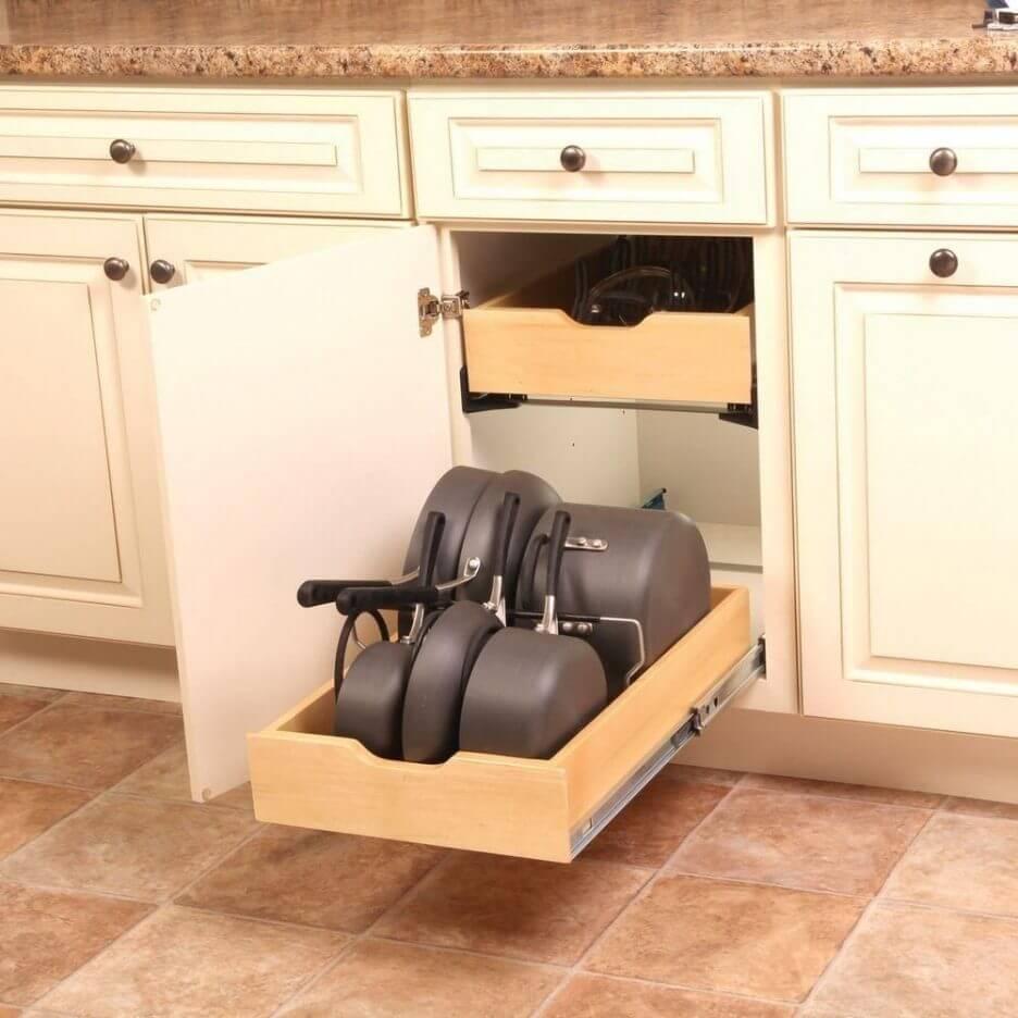 Советы организации пространства в вашем кухонном шкафу фото 3