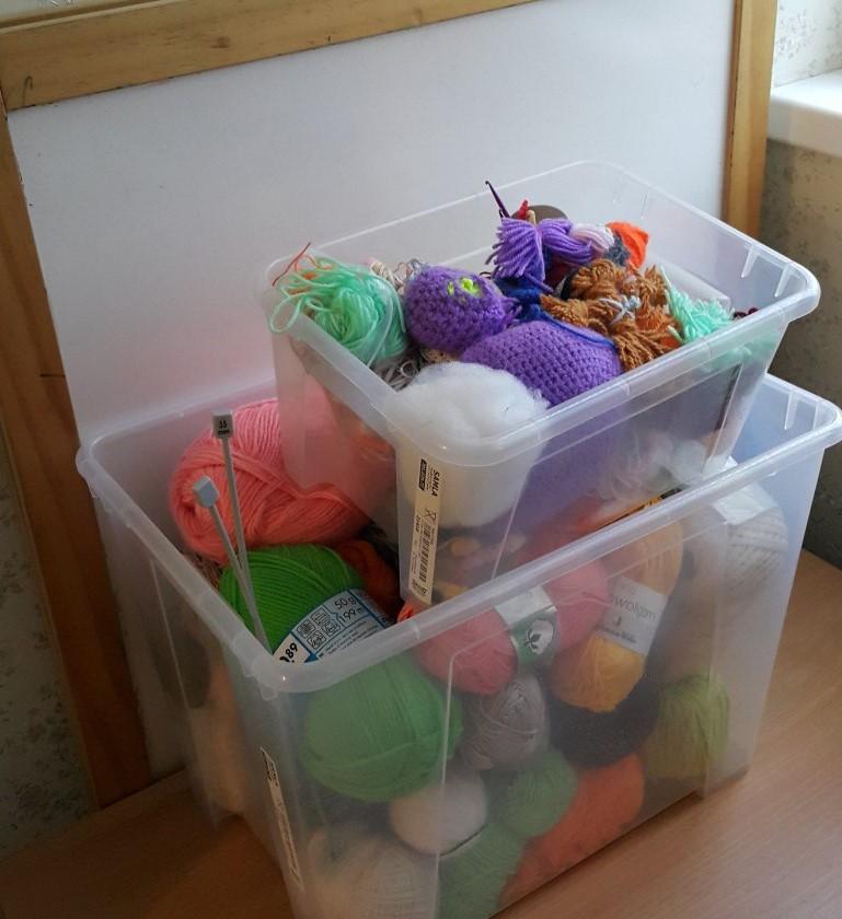 Идеи как хранить пряжу дома фото 8
