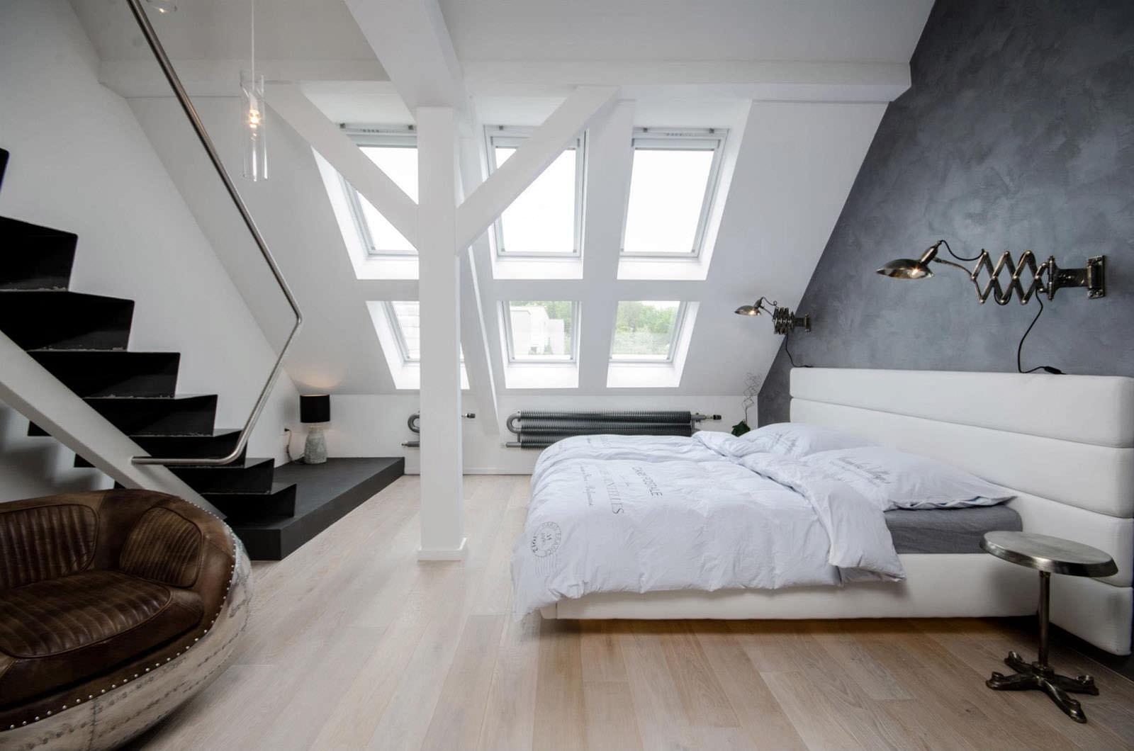 Идеи дизайна спальни на мансарде фото 14