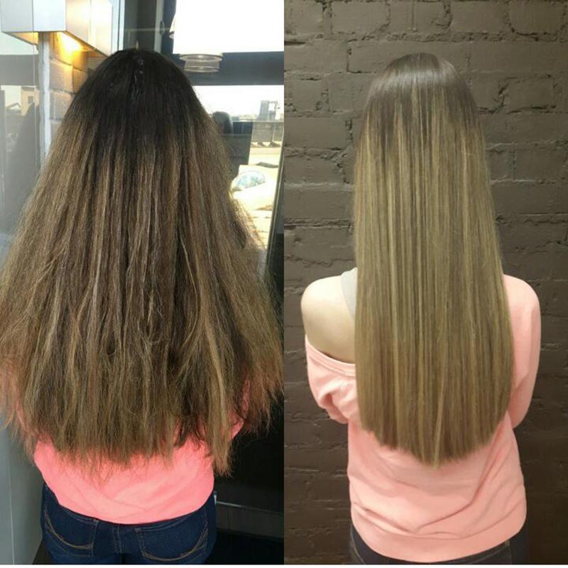 Кератиновое выпрямление волос фото 1