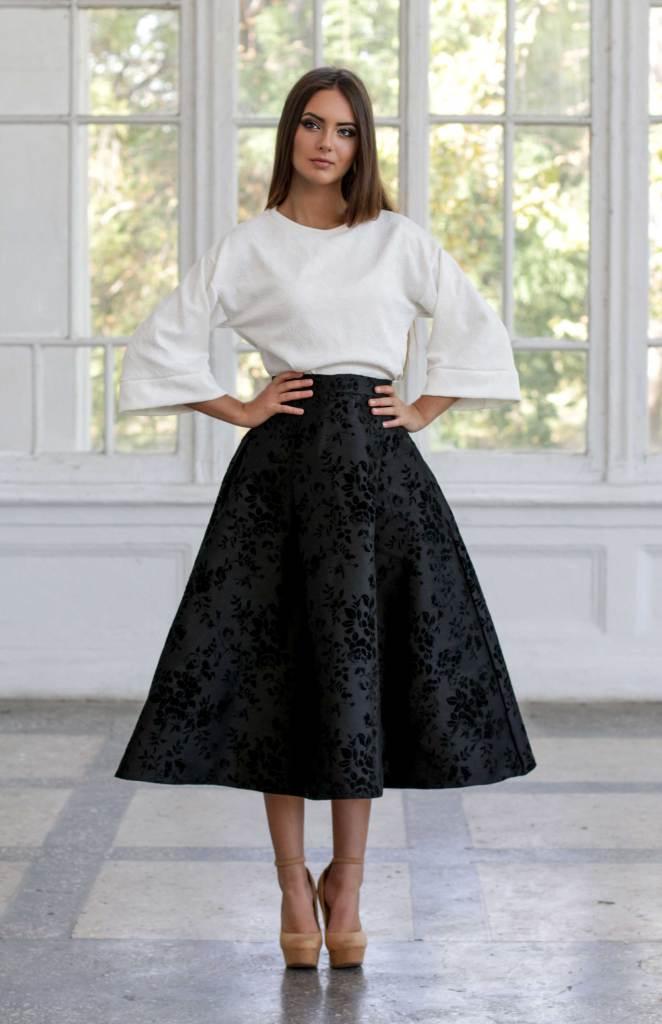 расклешенная юбка 2020 фото 9