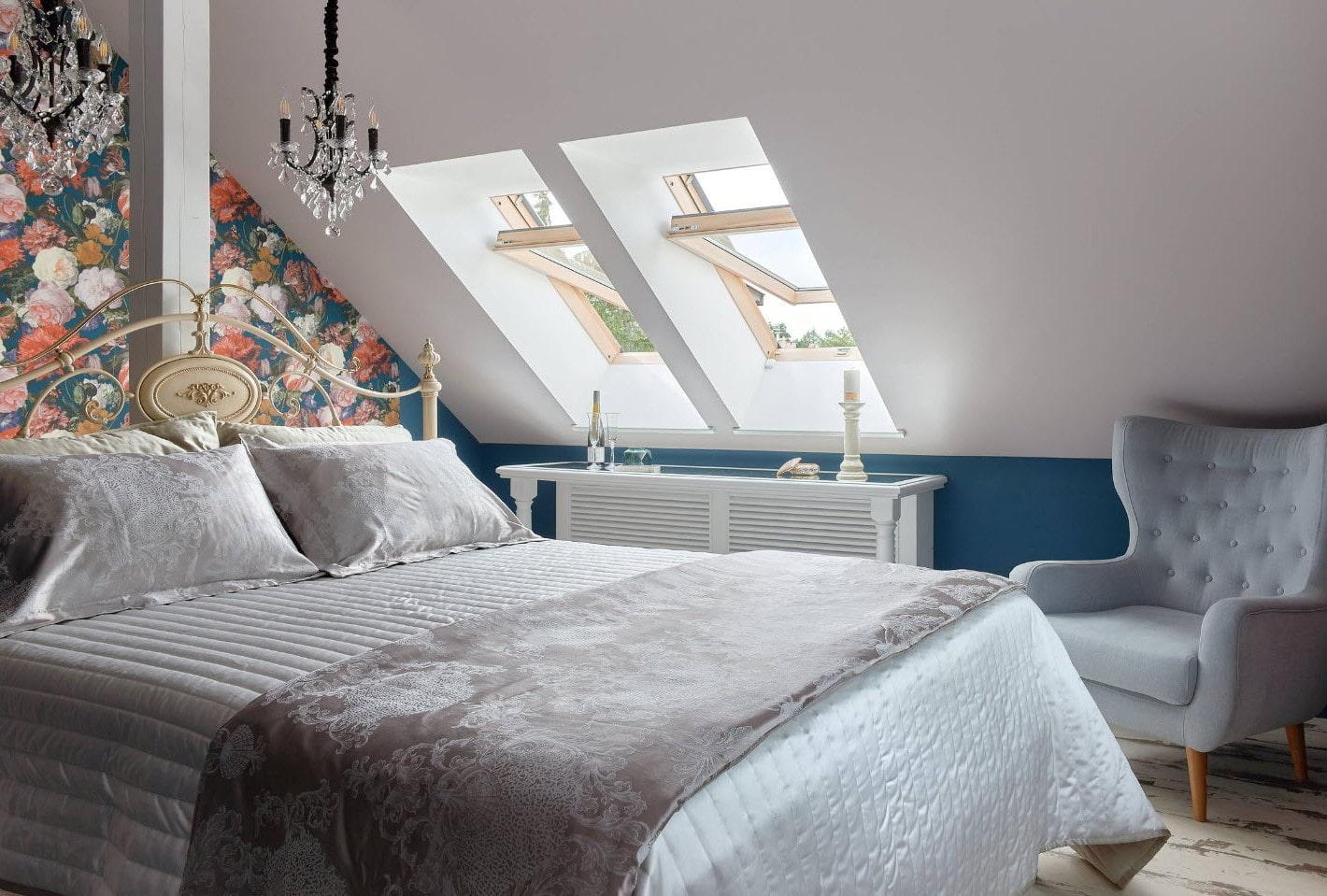 Идеи дизайна спальни на мансарде фото 16