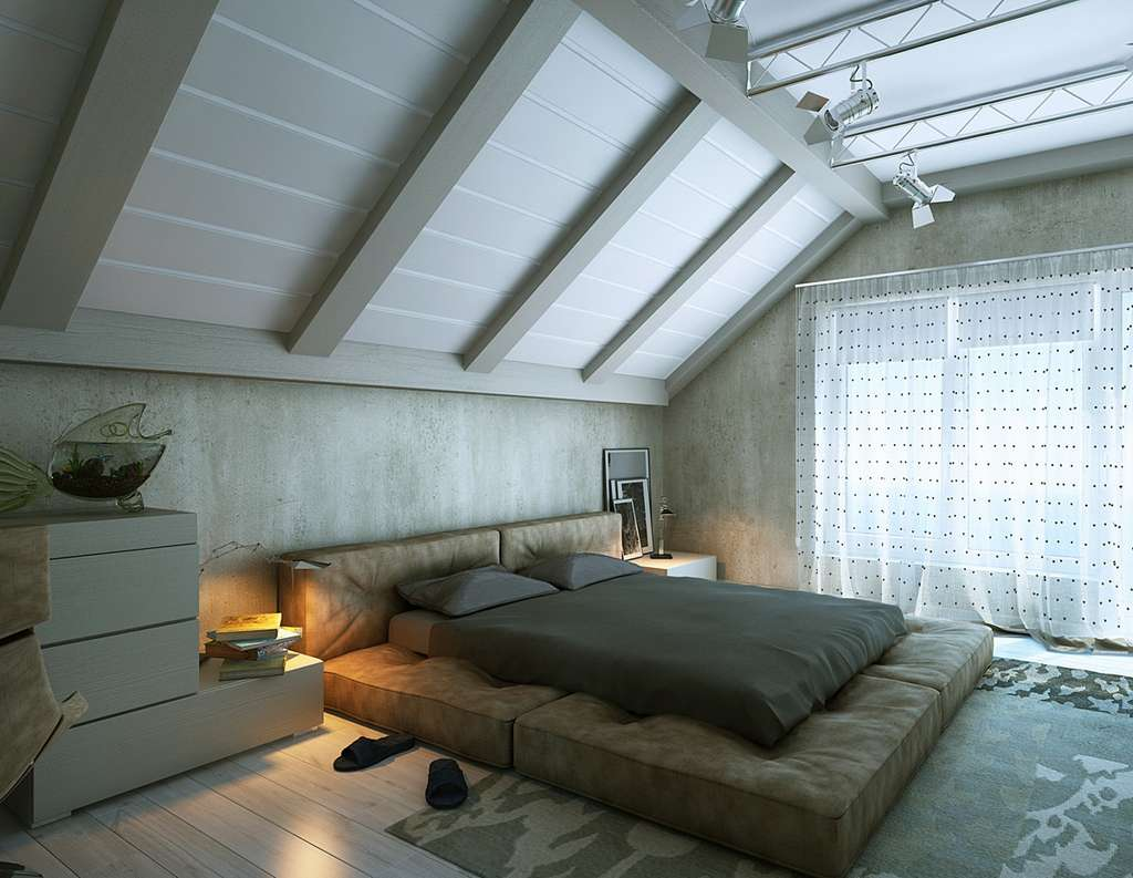Идеи дизайна спальни на мансарде фото 19