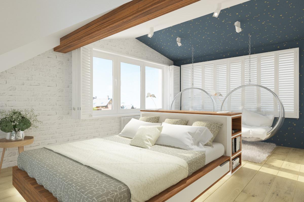 Идеи дизайна спальни на мансарде фото 20