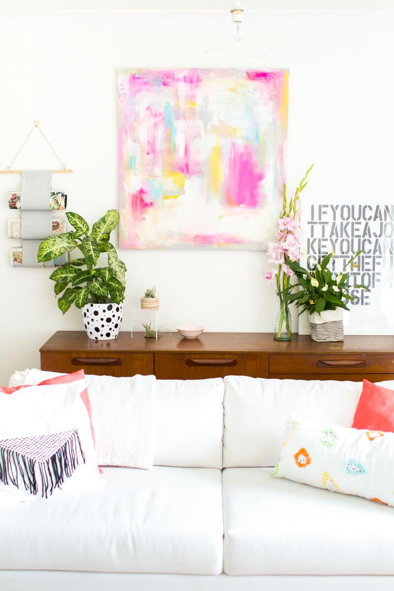 Настенное искусство в вашей гостиной фото 6