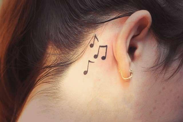 Татуировки за ухом фото 3