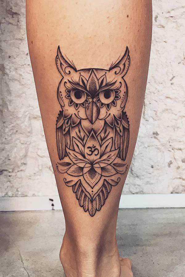 Татуировки с изображением совы фото 9