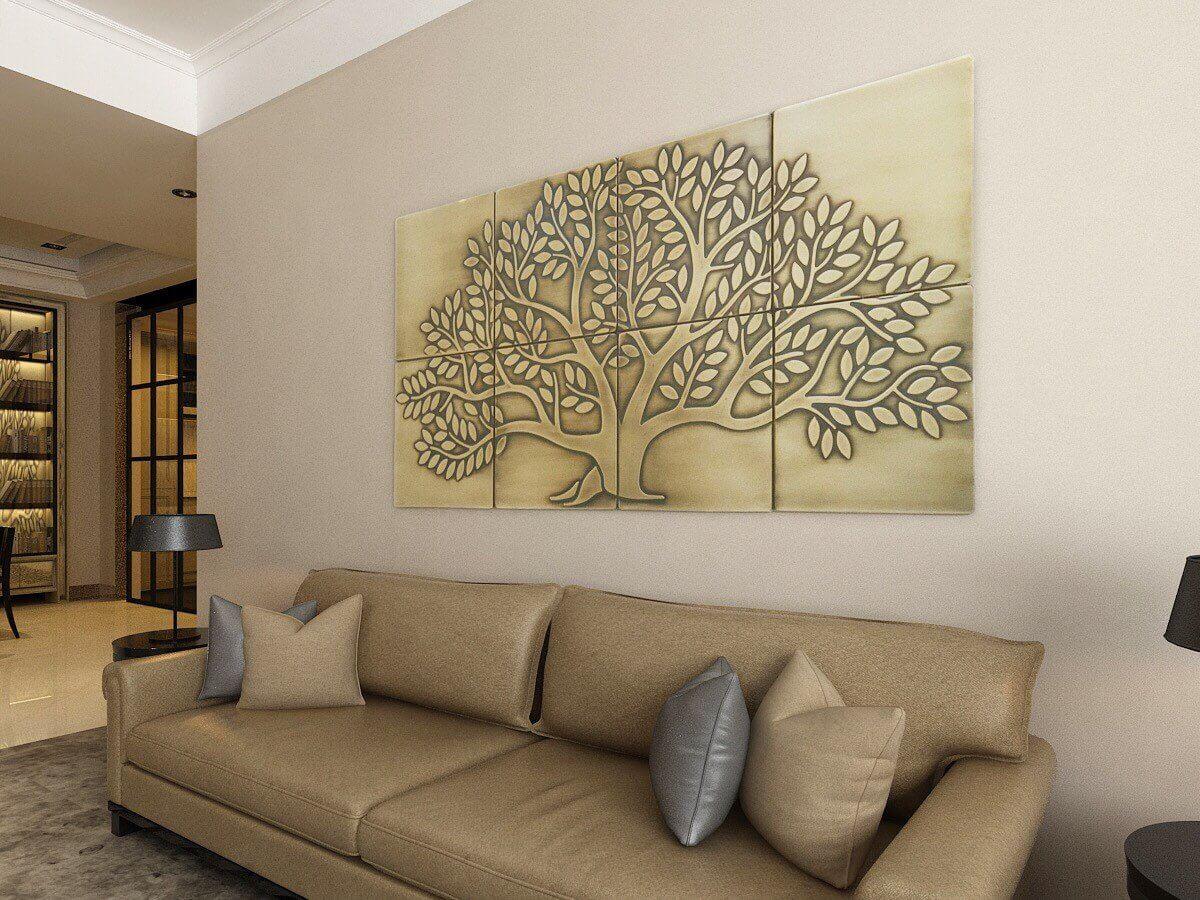 Настенное искусство в вашей гостиной фото 9