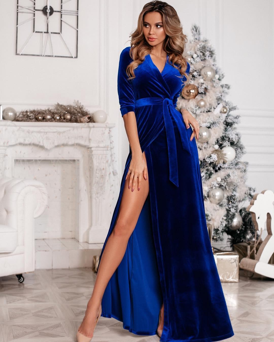 Бархатное платье 2020 фото 5