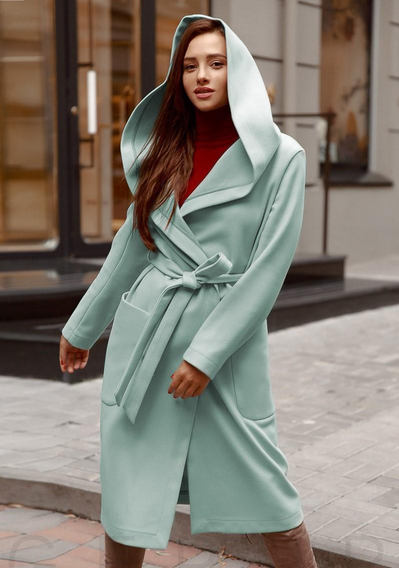 Пальто с капюшоном 2020 фото 5
