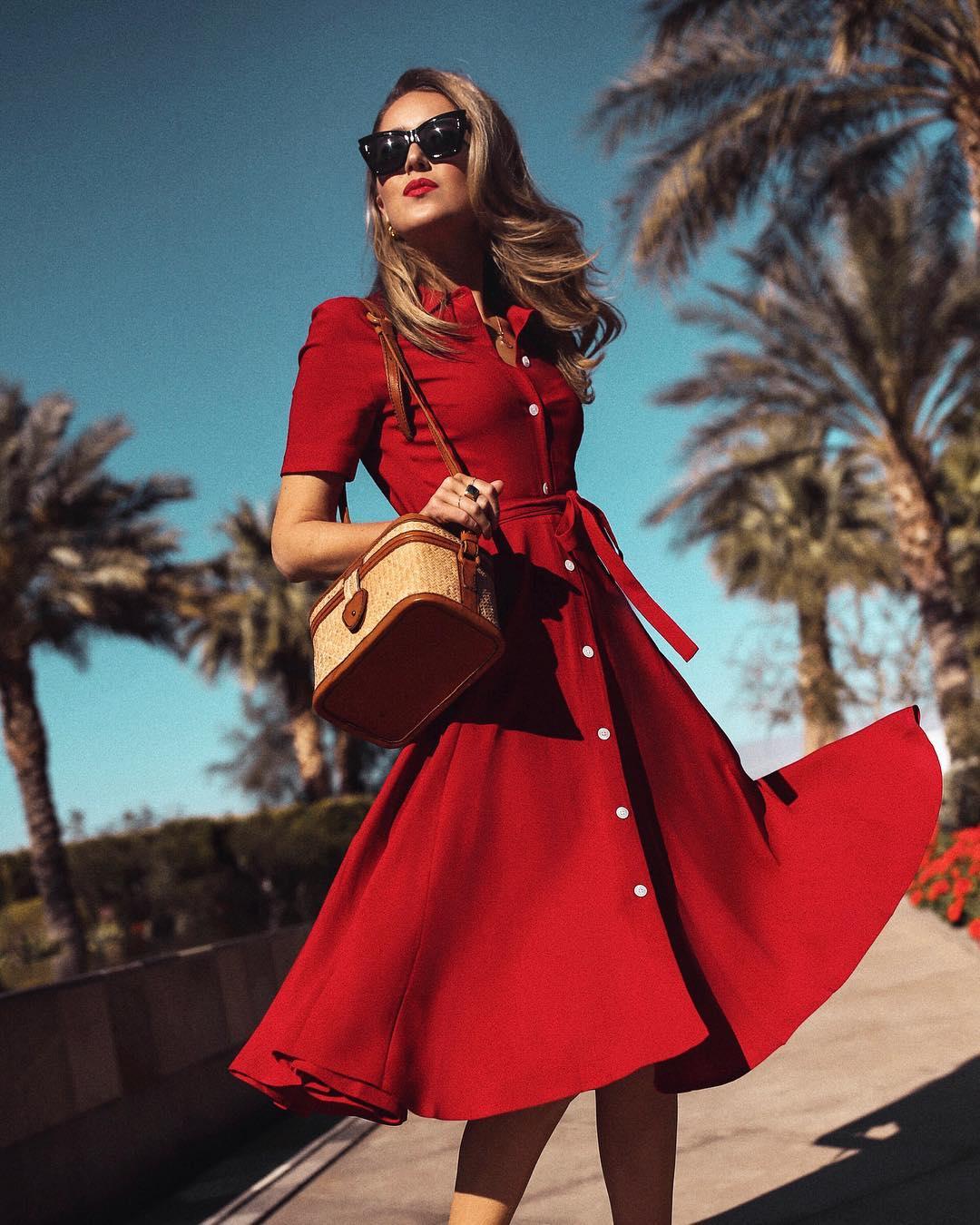 красное платье фото 9