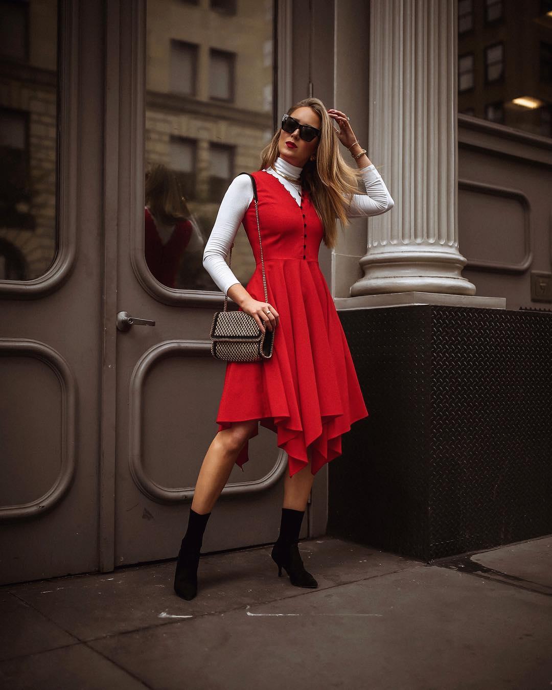 красное платье фото 10