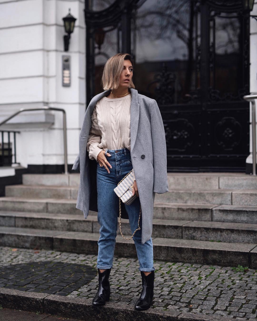с чем носить джинсы зимой фото 6