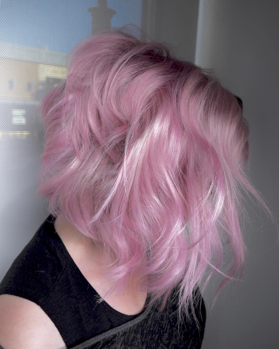 розовое окрашивание фото 3