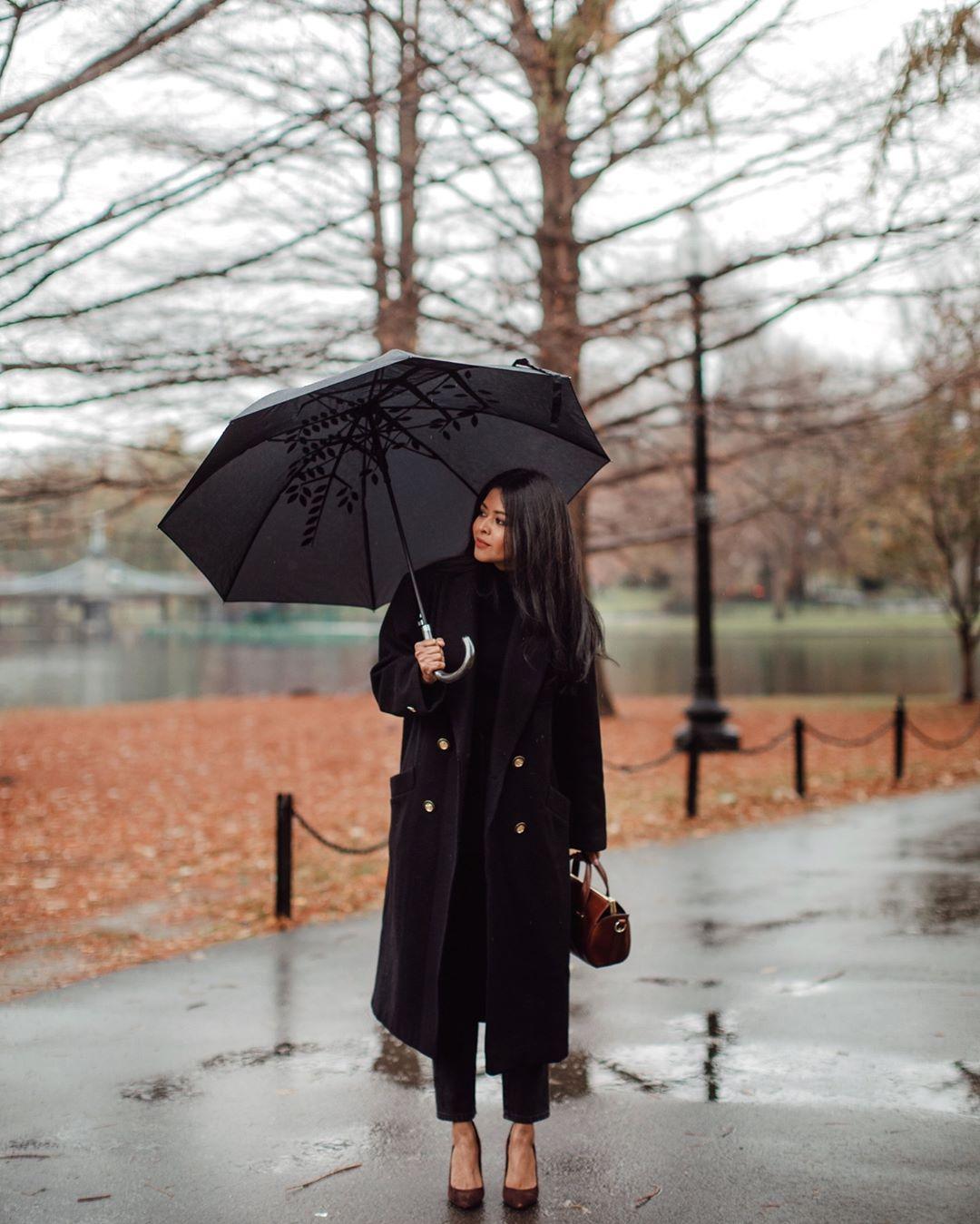 черное пальто 2020 фото 12