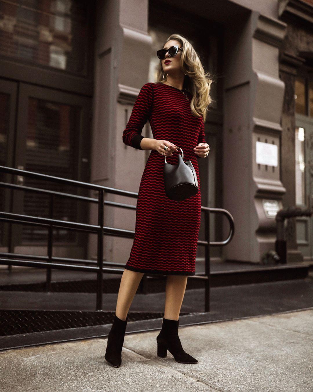 красное платье фото 11