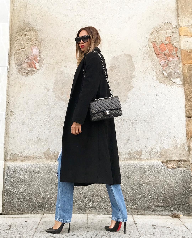 черное пальто 2020 фото 8