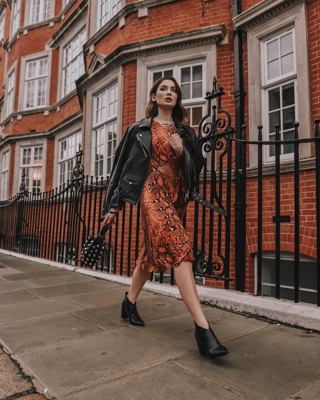 с чем носить платье осенью 2019 фото 1