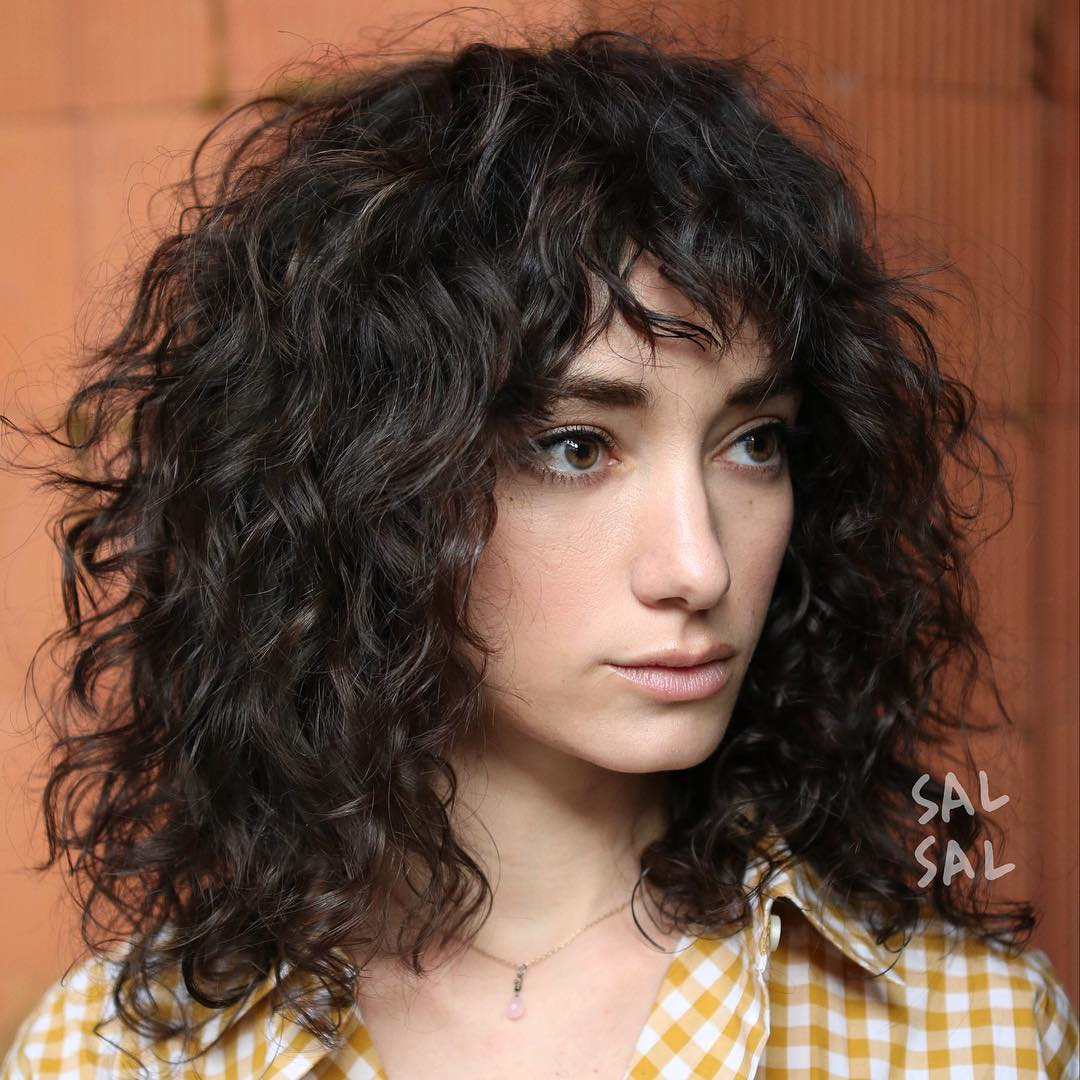 Укладка кудрявых волос фото 18