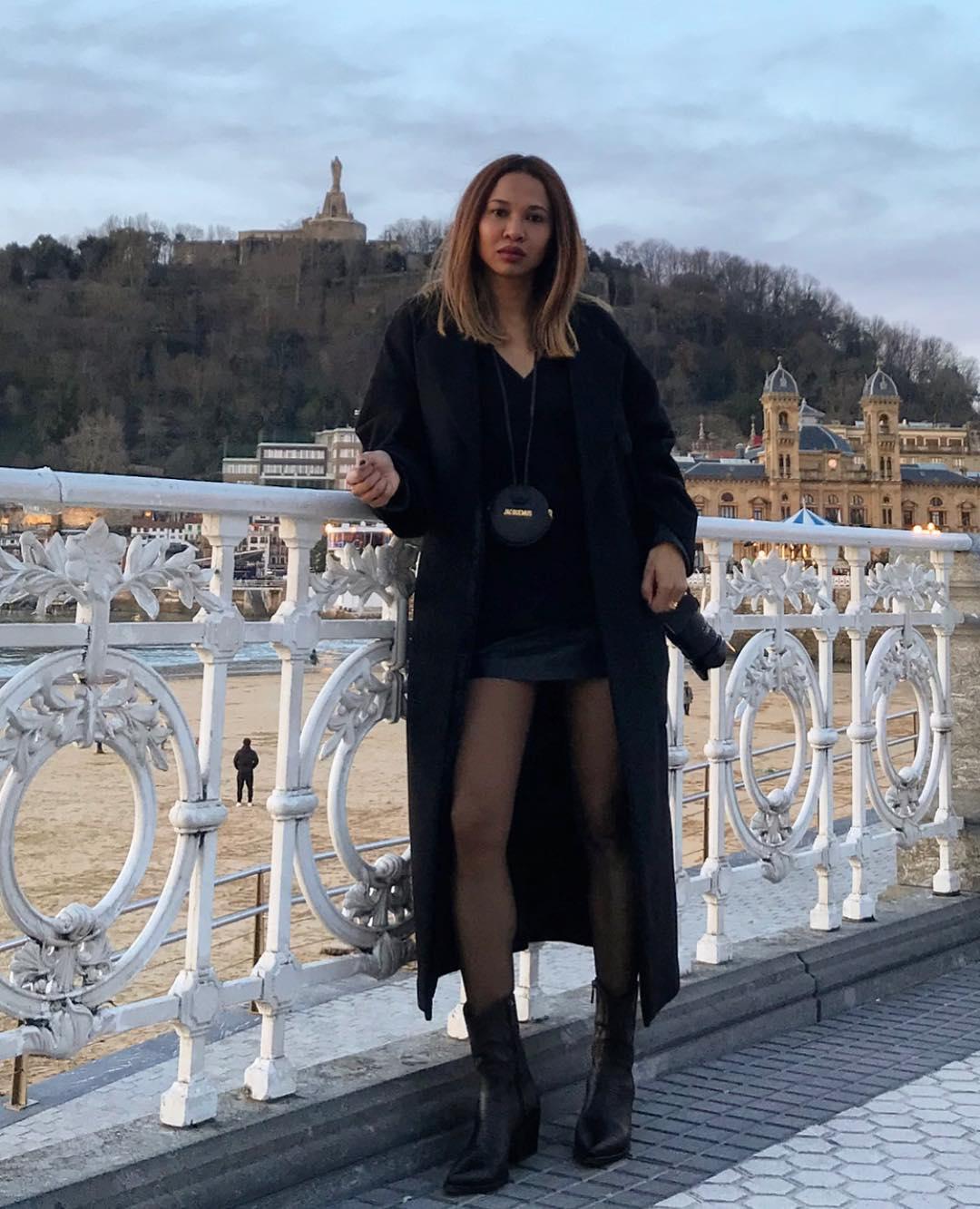 черное пальто 2020 фото 9