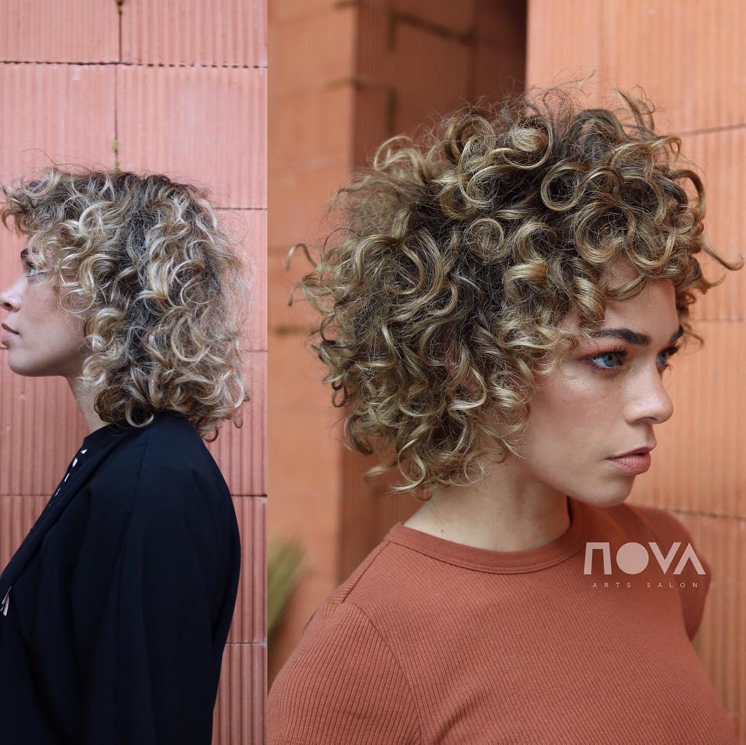 Укладка кудрявых волос фото 3