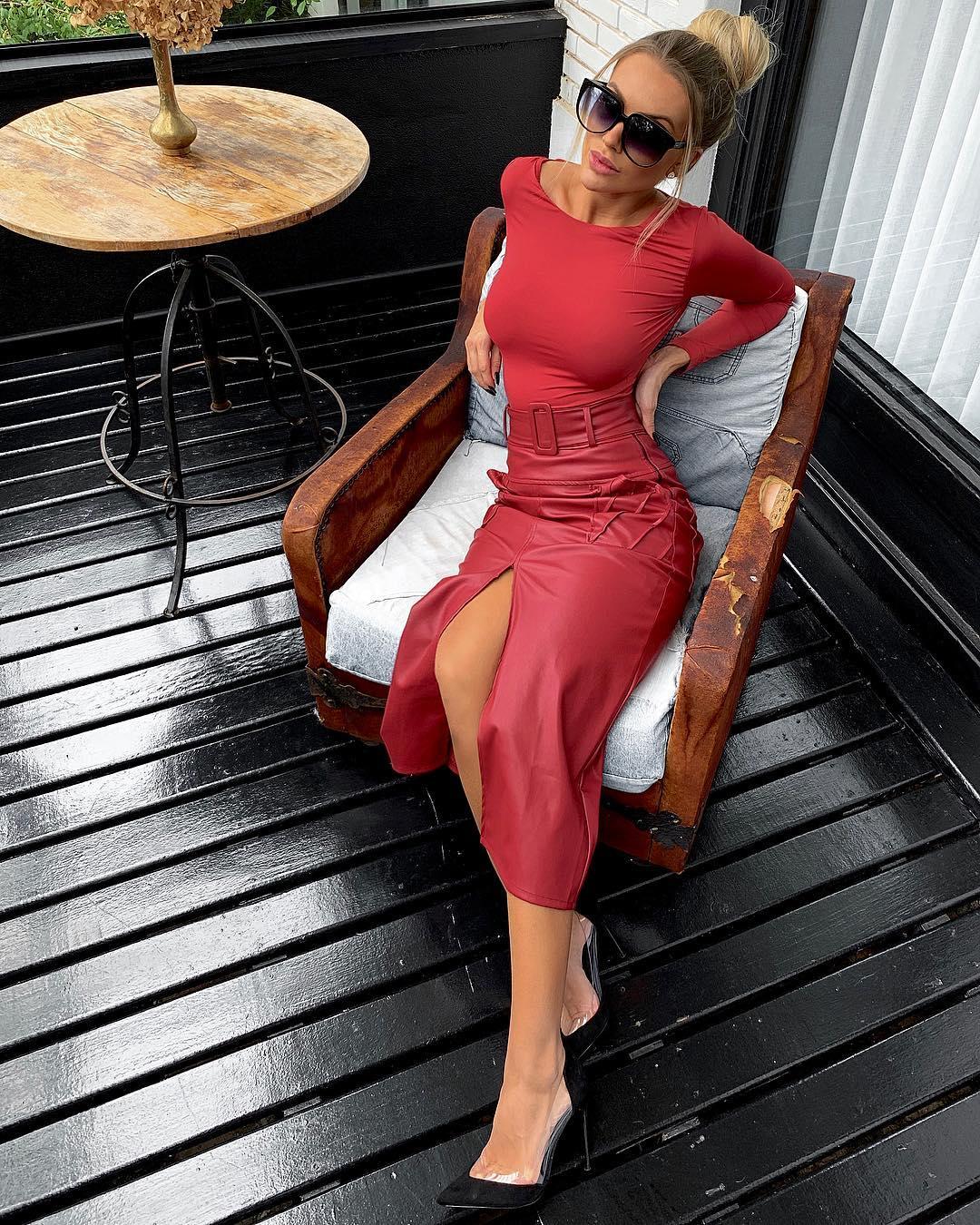 Кожаная юбка 2020 фото 2