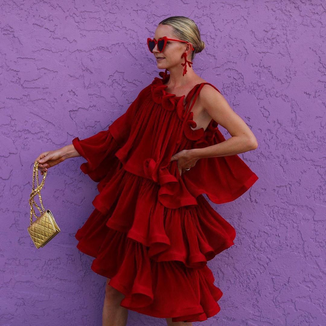 красное платье фото 3