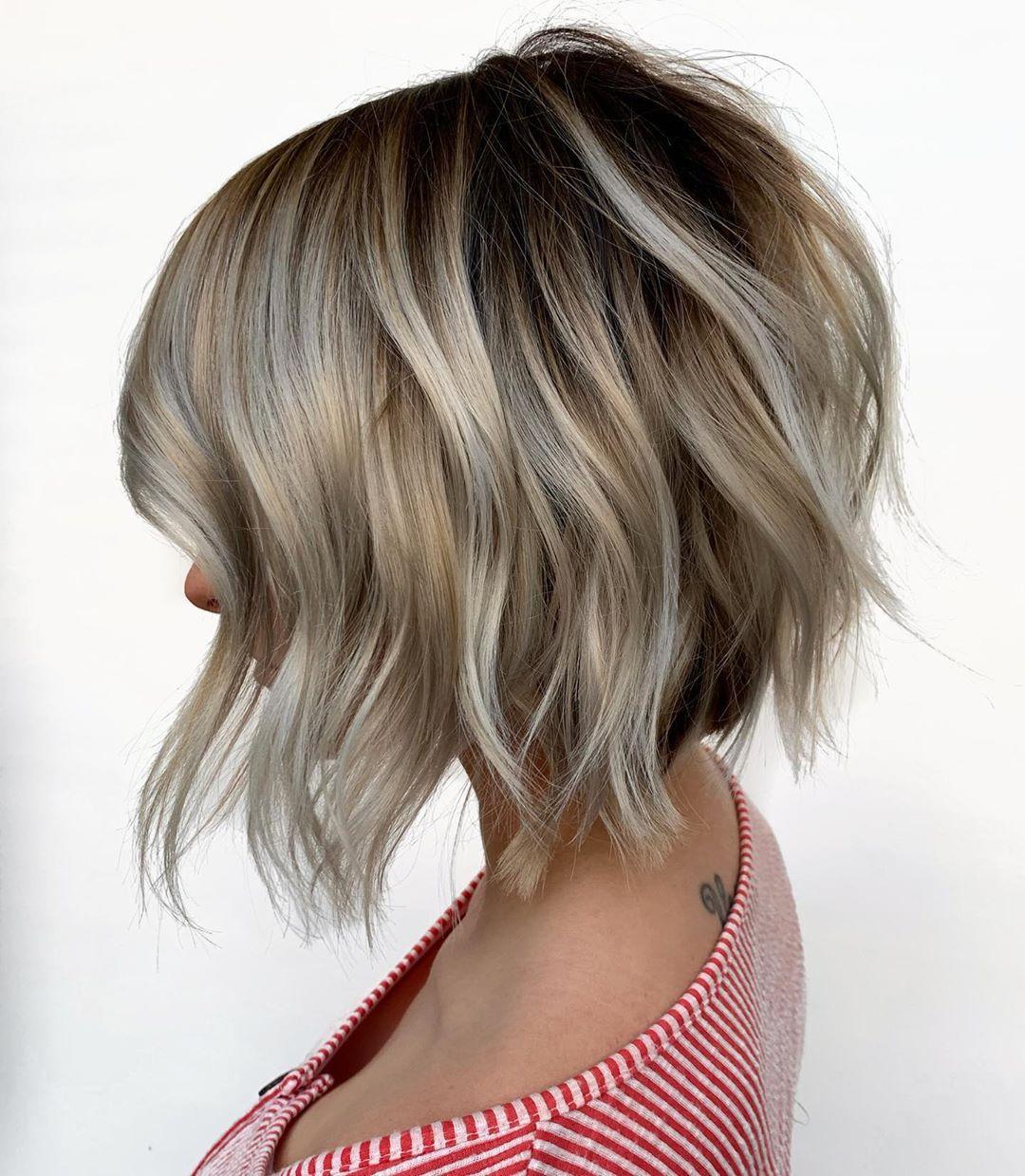 Балаяж на короткие волосы 2020: фото 4