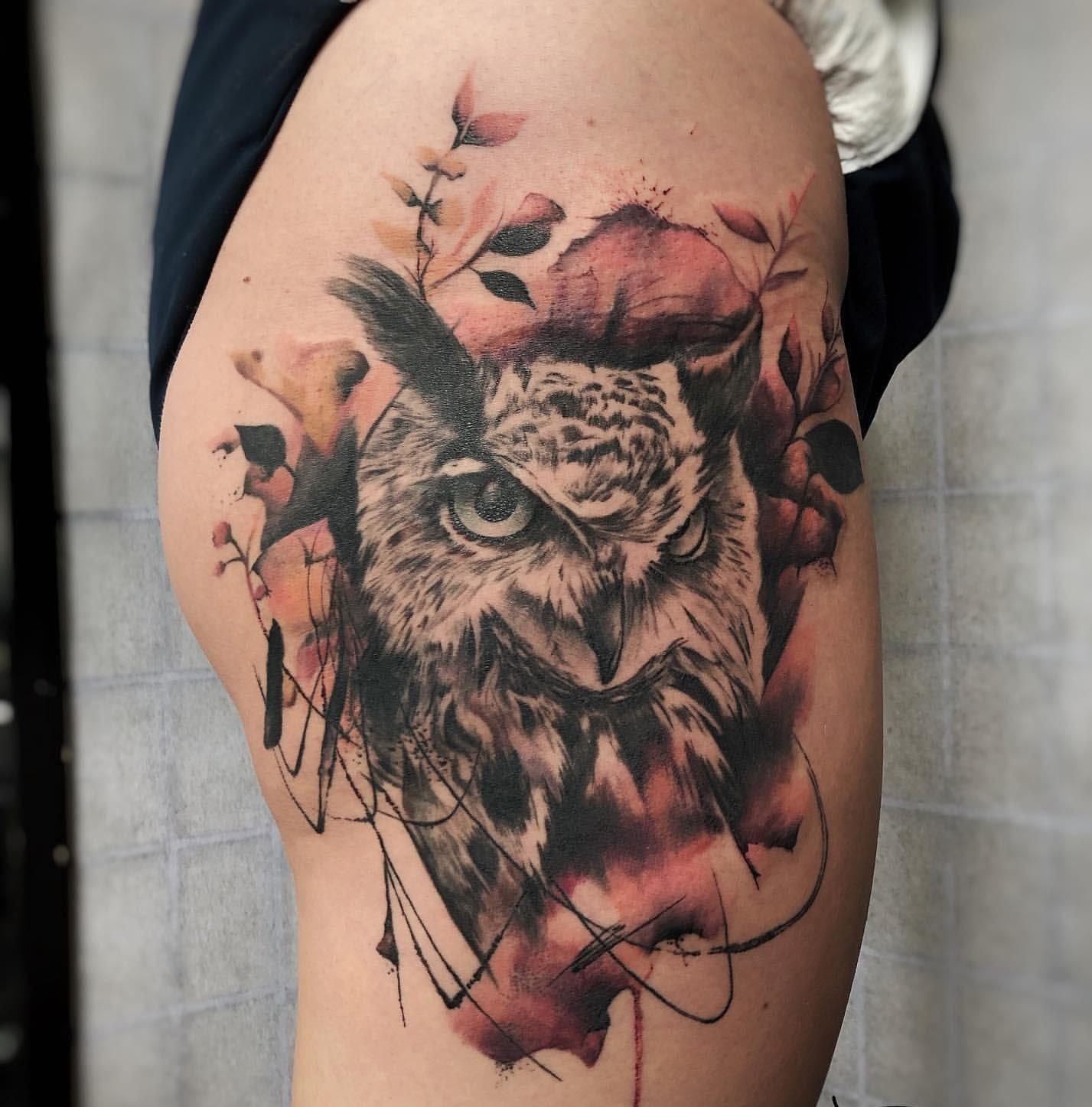 Татуировки с изображением совы фото 2