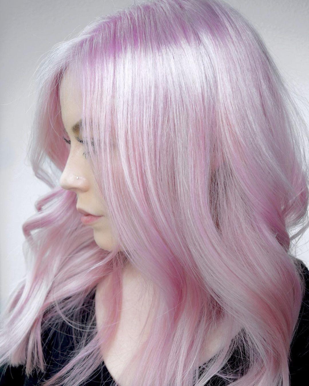 розовое окрашивание фото 5
