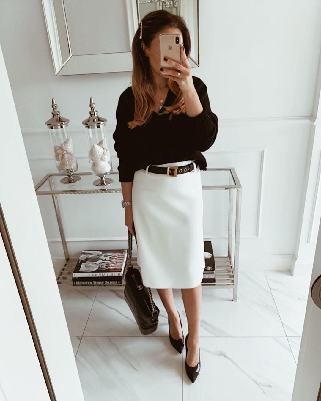 белая юбка 2020 фото 7