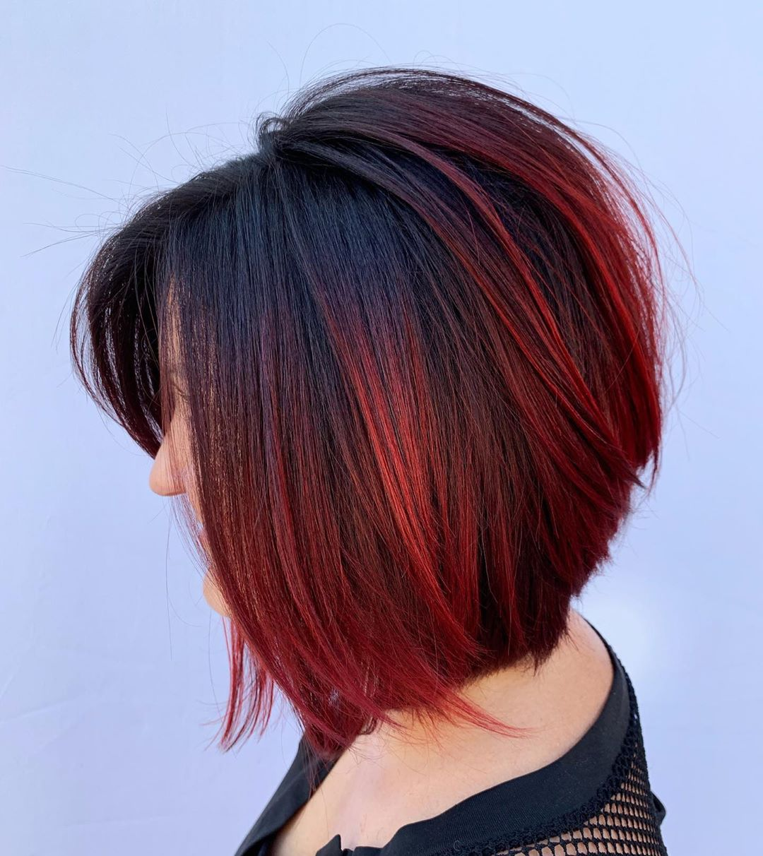 Балаяж на короткие волосы 2020: фото 1