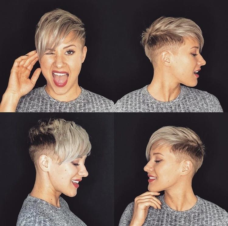 Shaved pixie cuts