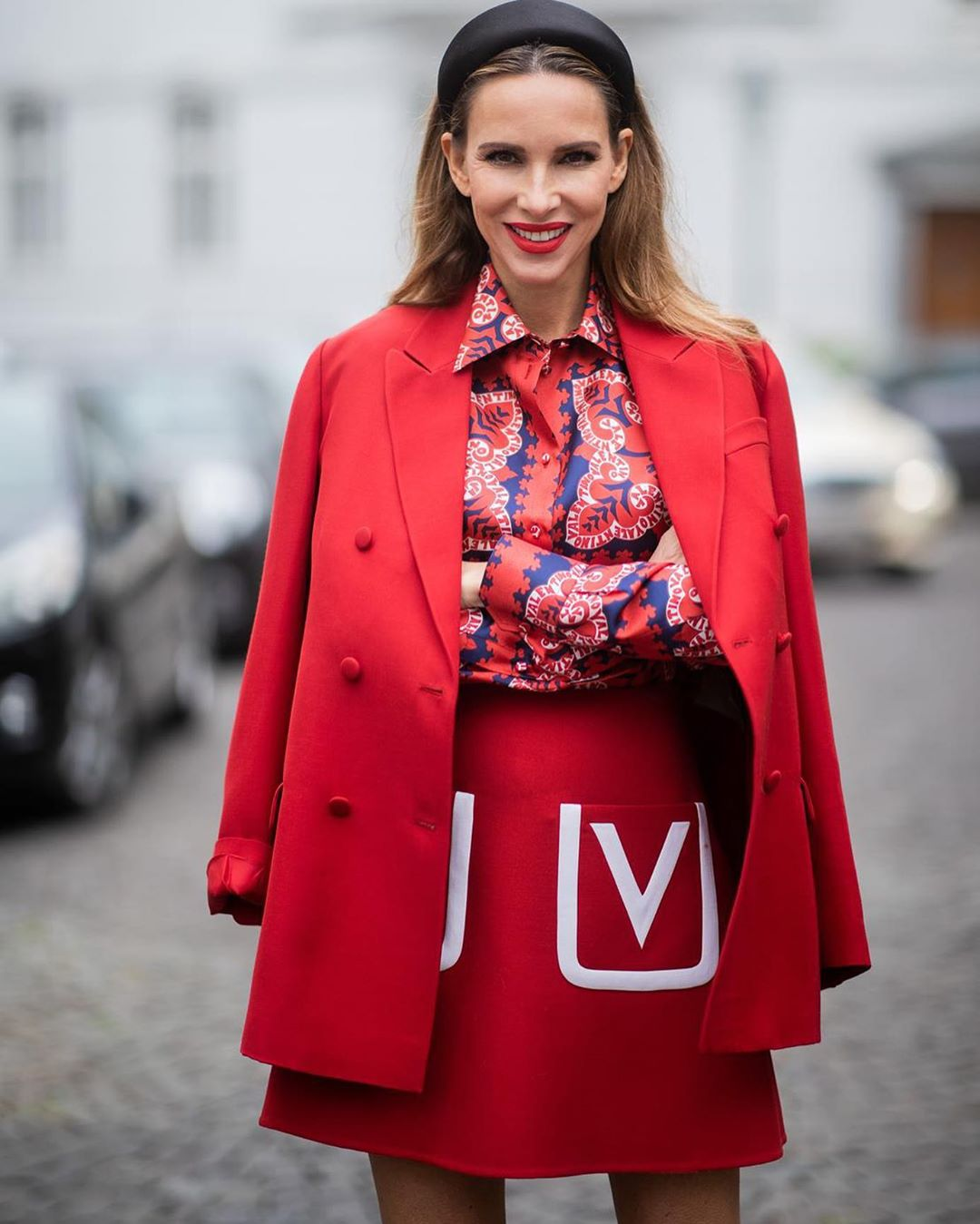 красная юбка 2020 фото 1
