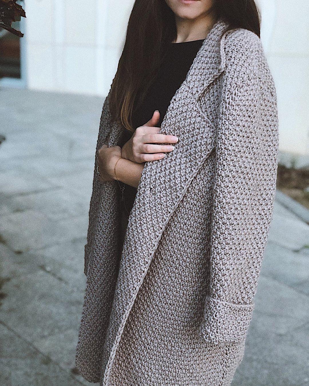 Вязаное пальто 2020 фото 7