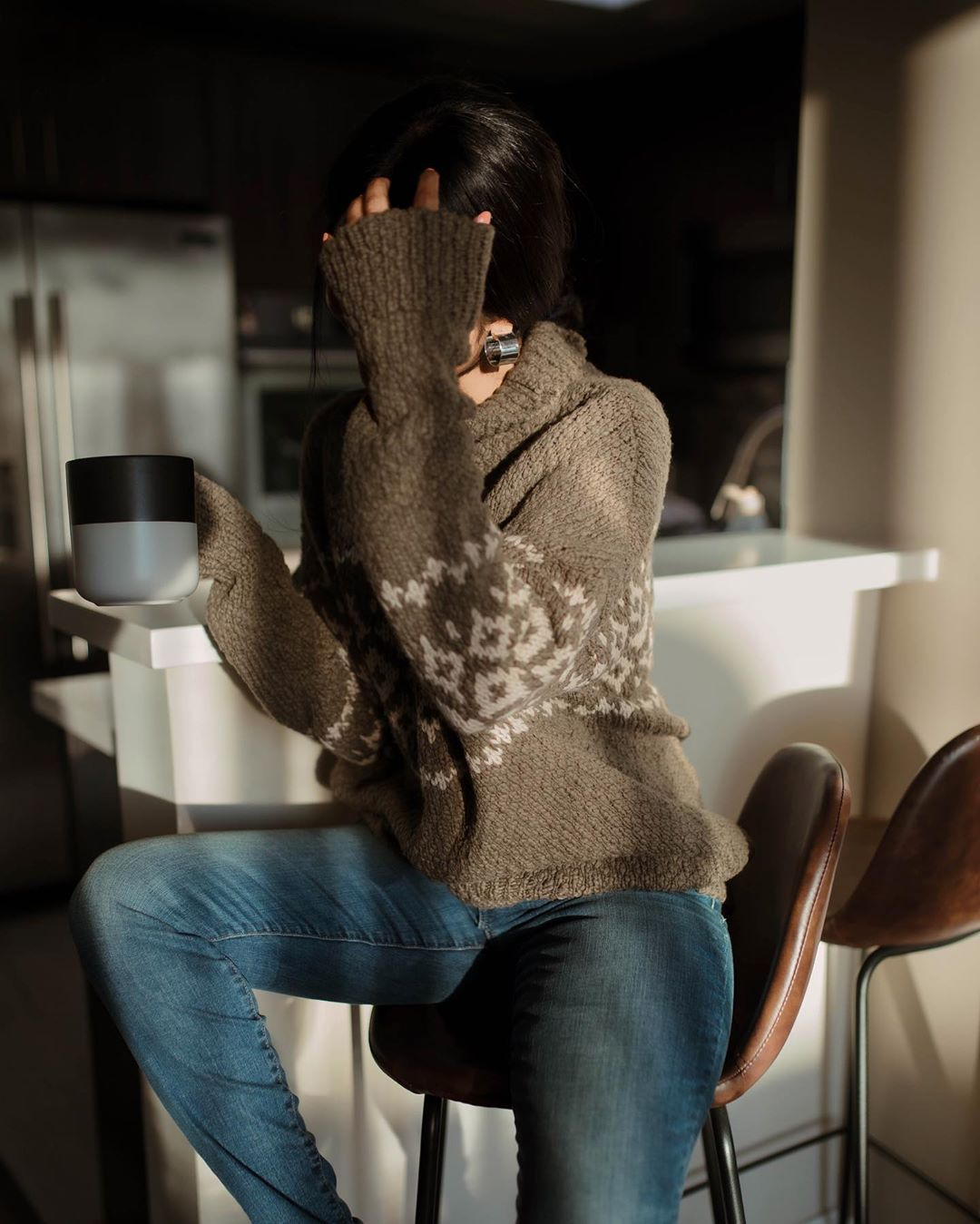 Вязаный свитер 2020 фото 1