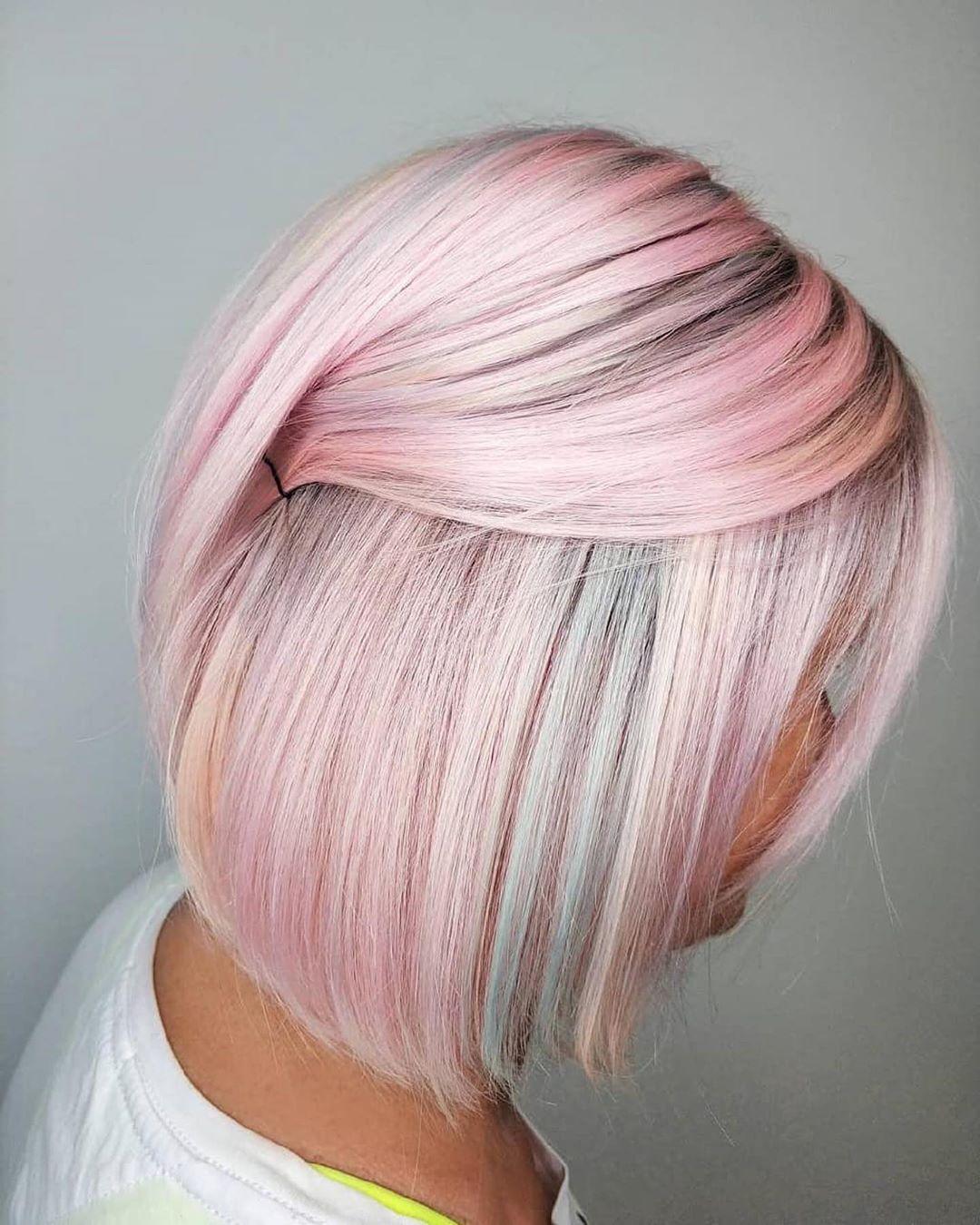 розовое окрашивание фото 8