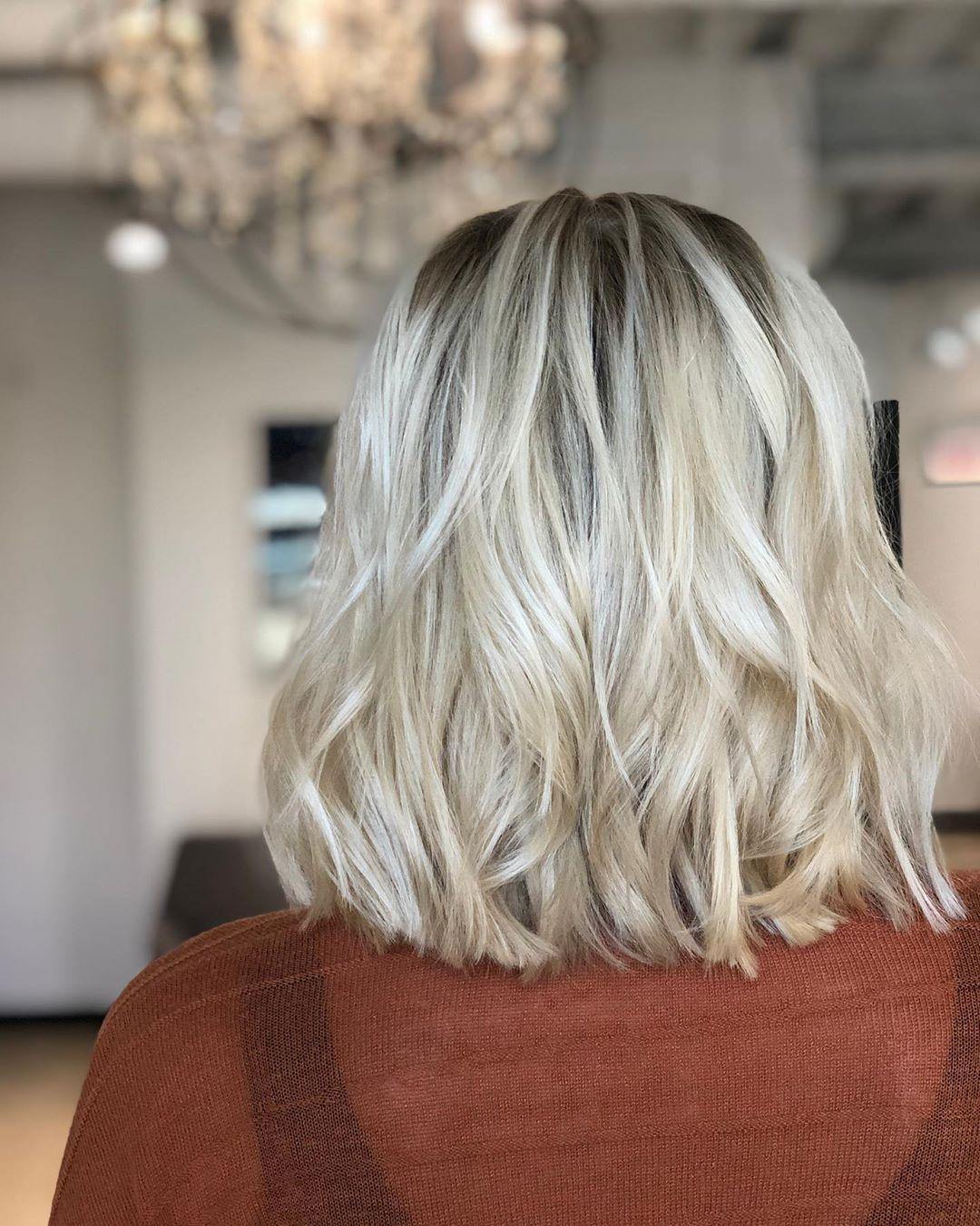 Балаяж на короткие волосы 2020 фото 3