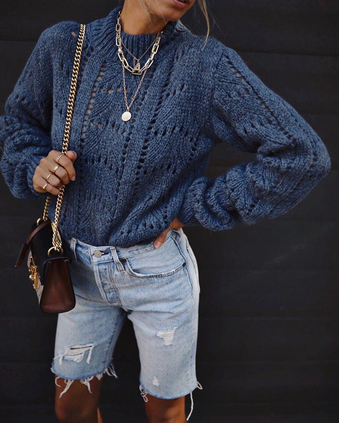 Вязаный свитер 2020 фото 6