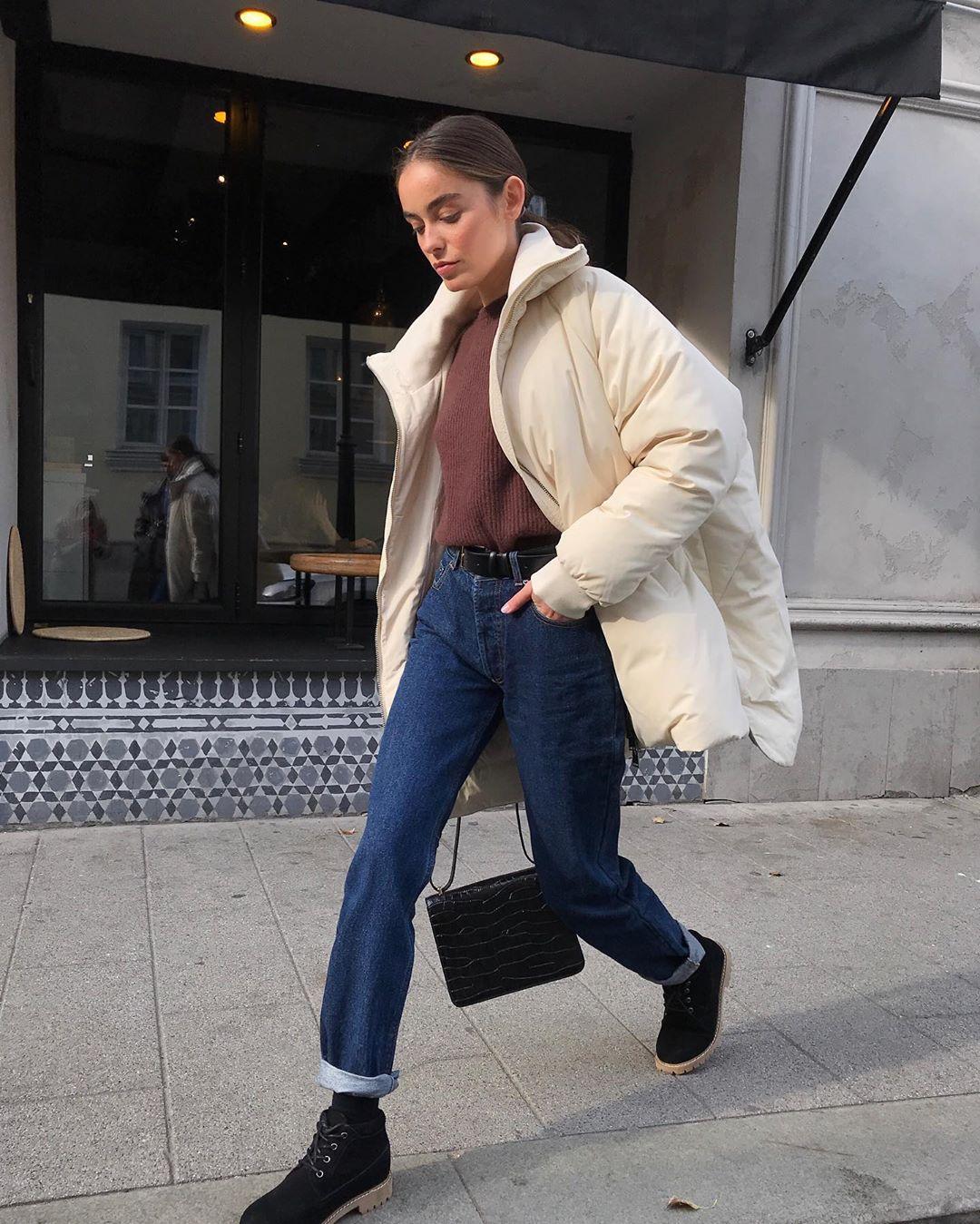 с чем носить джинсы зимой фото 2