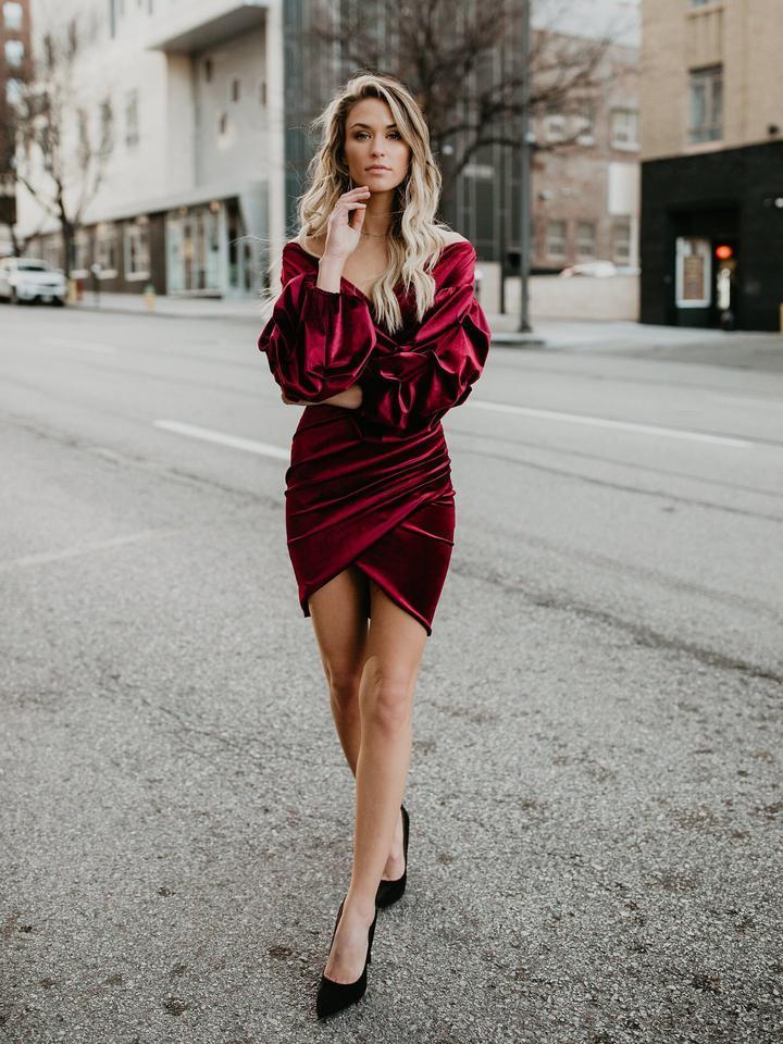 Бархатное платье 2020 фото 1