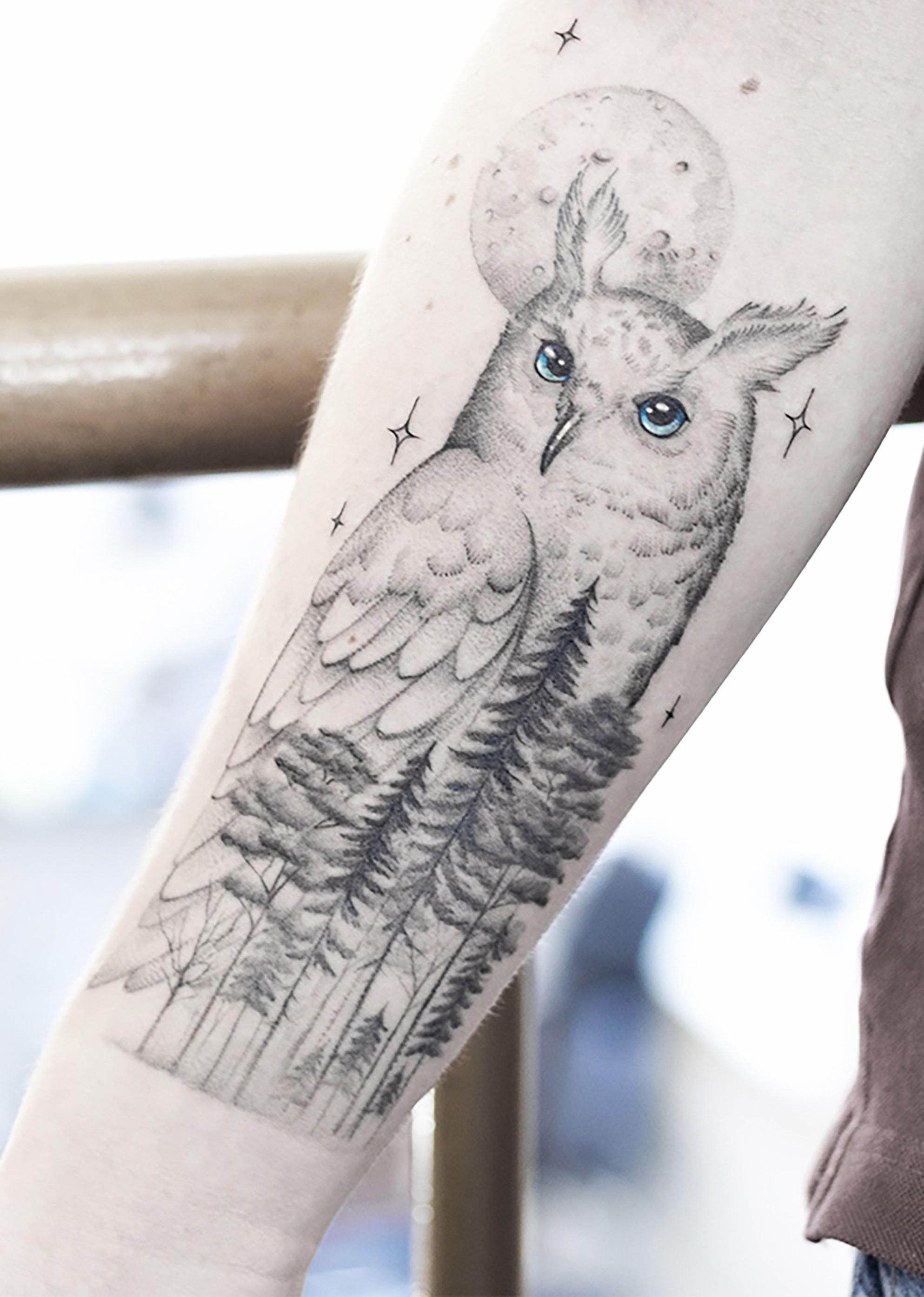 Татуировки с изображением совы фото 3