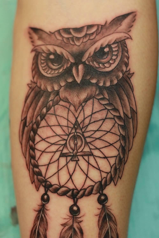 Татуировки с изображением совы фото 6
