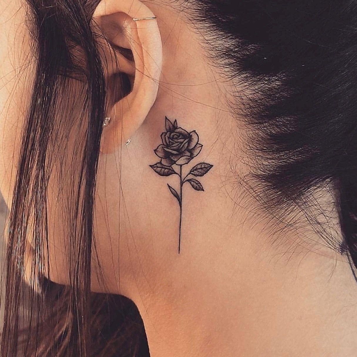 Татуировки за ухом фото 9