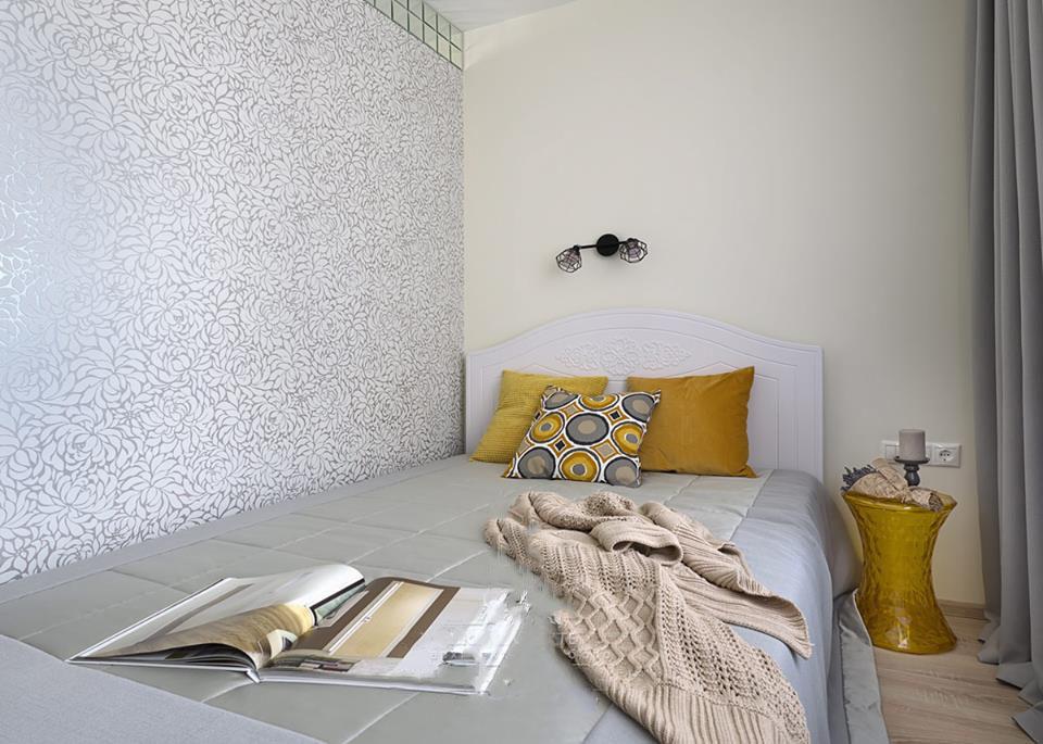 Дизайн интерьера небольшой спальни фото 12