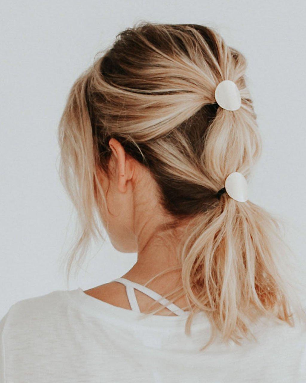 Хвост на средние волосы фото 5