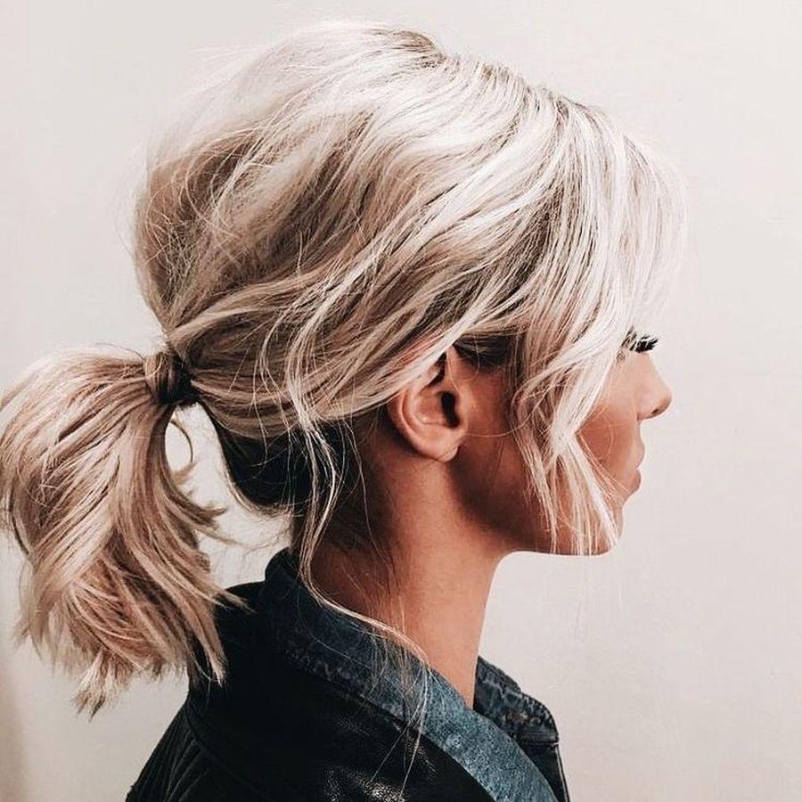 Хвост на средние волосы фото 3